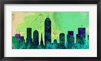 Framed Indianapolis City Skyline