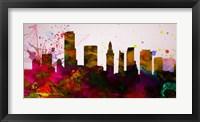 Framed Miami City Skyline