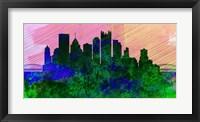 Framed Pittsburgh City Skyline