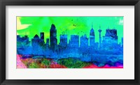 Framed San Antonio City Skyline