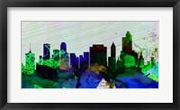 Framed Tulsa City Skyline