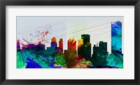 Framed Buffalo City Skyline