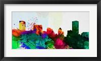 Framed Baltimore City Skyline