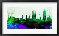 Framed Barcelona City Skyline