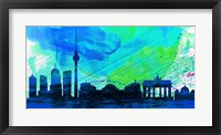 Framed Berlin City Skyline