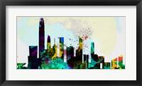 Framed Hong Kong City Skyline