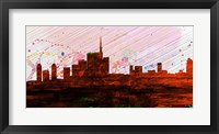 Framed Milan City Skyline