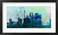Framed Tokyo City Skyline