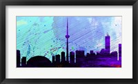 Framed Toronto City Skyline