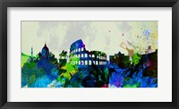 Framed Rome City Skyline