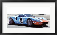Framed Ford GT 40 Gulf