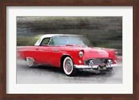 Framed 1955 Ford Thunderbird