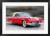Framed 1955 Ford Thunderbird