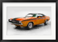 Framed 1968 Dodge Challenger