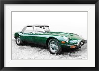 Framed 1961 Jaguar E-Type