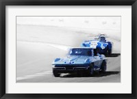 Framed Corvette and AC Cobra Shelby
