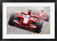 Framed Ferrari F1 Race