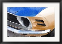 Framed Ford Mustang Front Detail