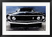 Framed 1968 Ford Mustang Shelby Front