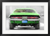Framed Dodge Challenger Rear