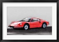 Framed Ferrari Dino 246 GT