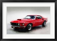 Framed 1969 Ford Mustang