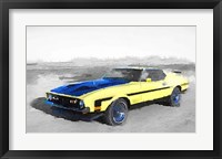 Framed 1971 Ford Mustang Boss