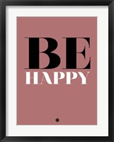 Framed Be Happy 2