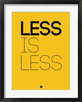 Framed Less Is Less Yellow