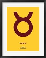 Framed Taurus Zodiac Sign Brown