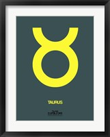 Framed Taurus Zodiac Sign Yellow
