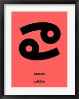 Framed Cancer Zodiac Sign Black
