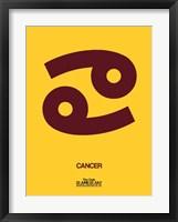 Framed Cancer Zodiac Sign Brown