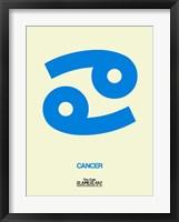 Framed Cancer Zodiac Sign Blue