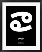 Framed Cancer Zodiac Sign White