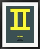 Framed Gemini Zodiac Sign Yellow