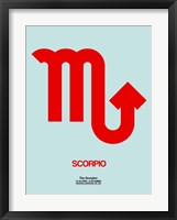 Framed Scorpio Zodiac Sign Red