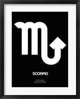 Framed Scorpio Zodiac Sign White