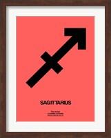 Framed Sagittarius Zodiac Sign Black