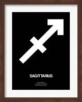 Framed Sagittarius Zodiac Sign White