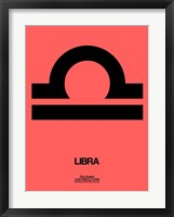 Framed Libra Zodiac Sign Black
