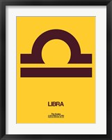 Framed Libra Zodiac Sign Brown