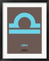 Framed Libra Zodiac Sign Blue