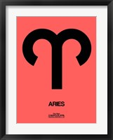 Framed Aries Zodiac Sign Black