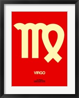 Framed Virgo Zodiac Sign Yellow