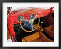 Framed Ferrari 225 S Berlinetta Interior