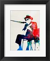 Framed Johnny Lee Hooker Watercolor