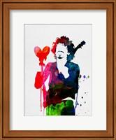 Framed Santana Watercolor