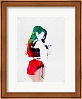 Framed Iggy Watercolor