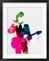 Framed David Watercolor